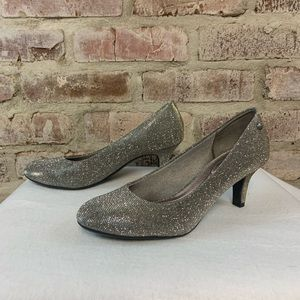 Sparkly life stride silver heels